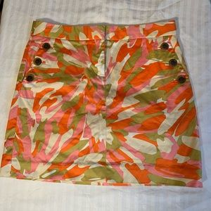 J.CREW Splash Print Mod Mini Skirt